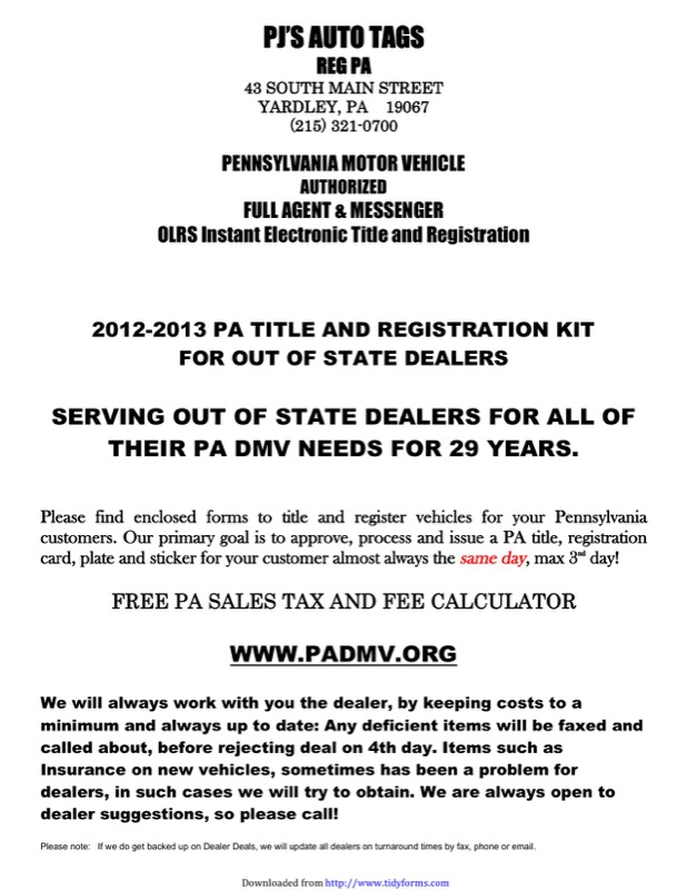 Pennsylvania Power Of Attorney Form Free Templates In Doc Ppt