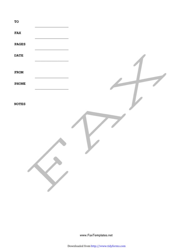 Fax Cover Sheet Templates  Free Templates In Doc Ppt Pdf  Xls