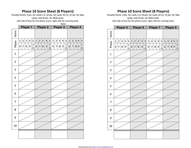 Phase  Score Sheet Templates  Free Templates In Doc Ppt Pdf  Xls