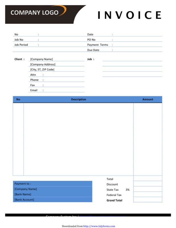 Photography Invoice Templates  Free Templates In Doc Ppt Pdf  Xls