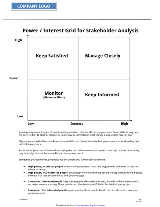 Stakeholder Analysis Template  Free Templates In Doc Ppt Pdf  Xls