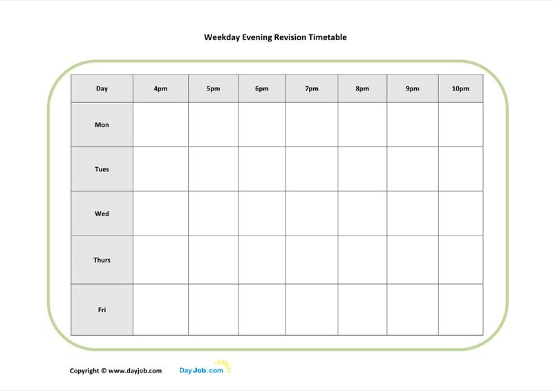 Timetable Templates  Free Templates In Doc Ppt Pdf  Xls