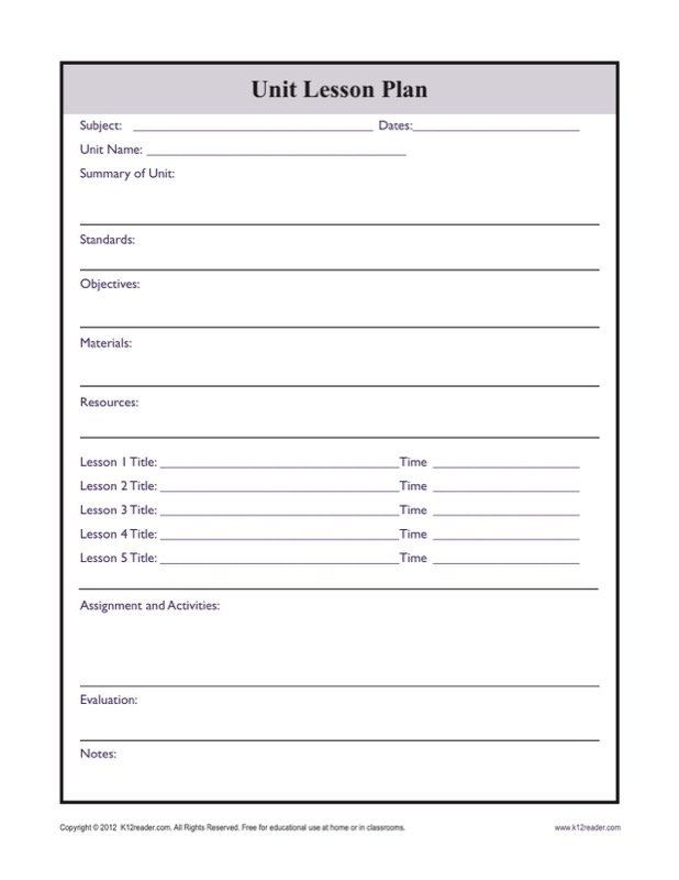 Printable Lesson Plan Templates  Free Templates In Doc Ppt Pdf  Xls