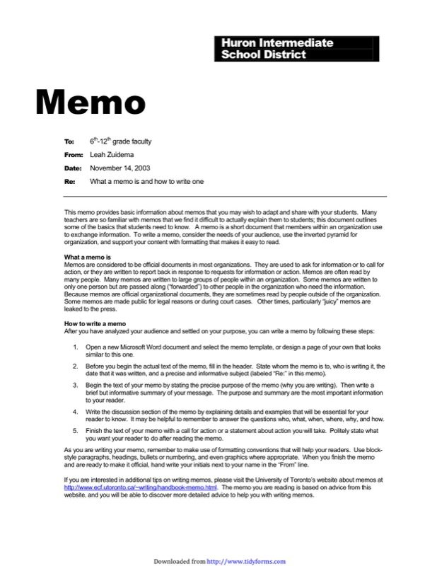 Professional Memo Template  Download Memo Template