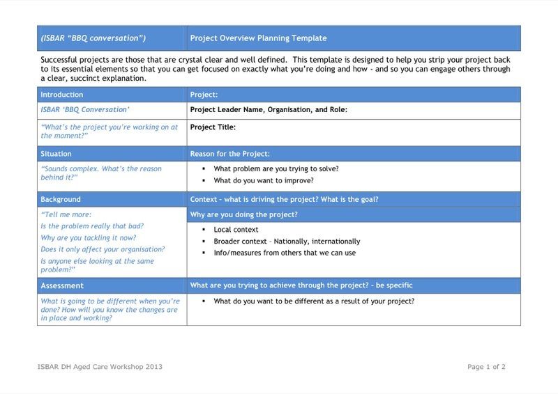 Project Overview Templates  Free Templates In Doc Ppt Pdf  Xls