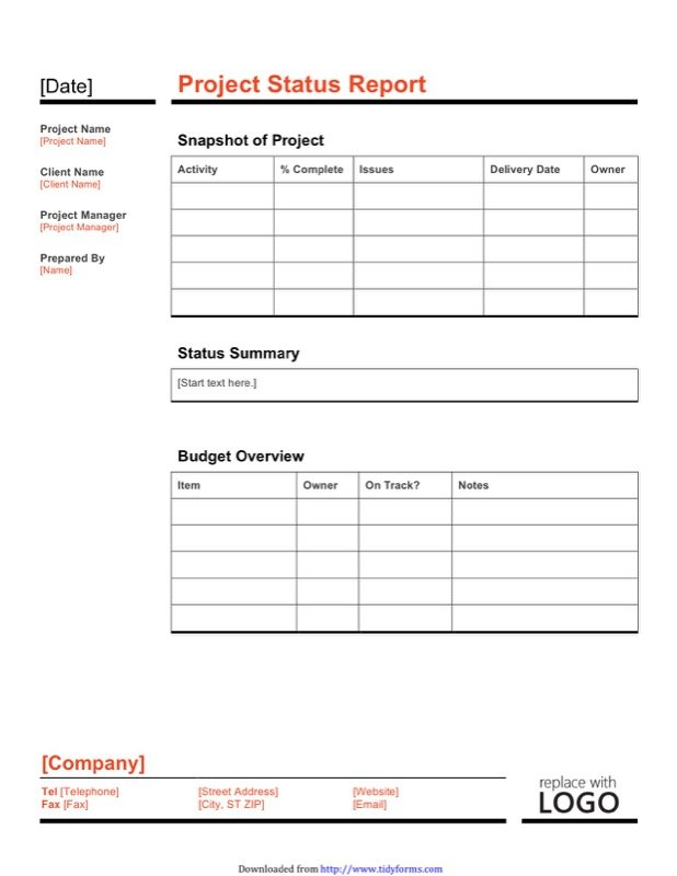 Project Report Template  Free Templates In Doc Ppt Pdf  Xls