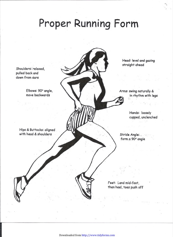 Proper Running Form Templates  Free Templates In Doc Ppt Pdf  Xls