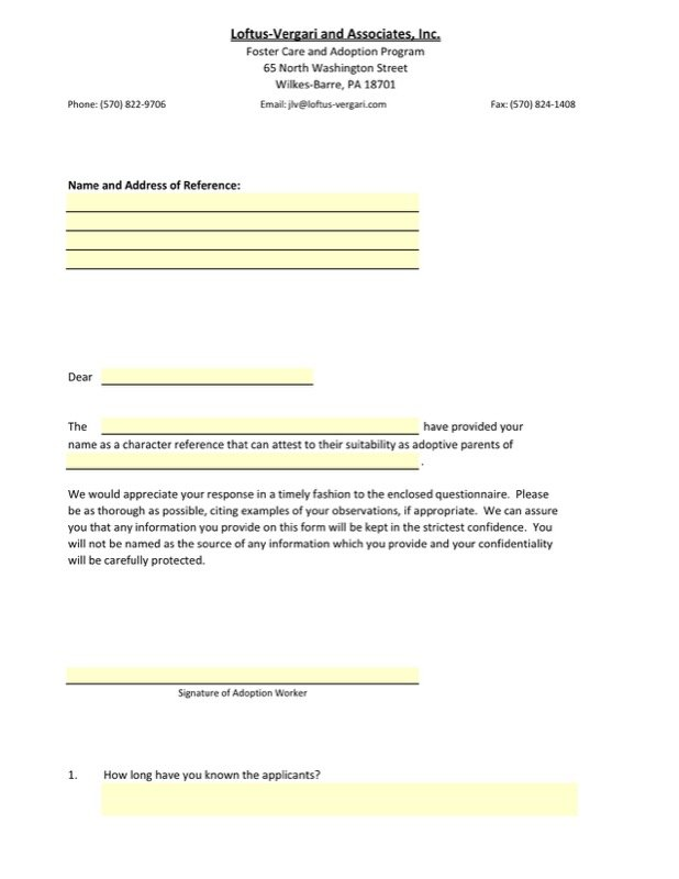 sample adoption reference letter templates free templates in doc
