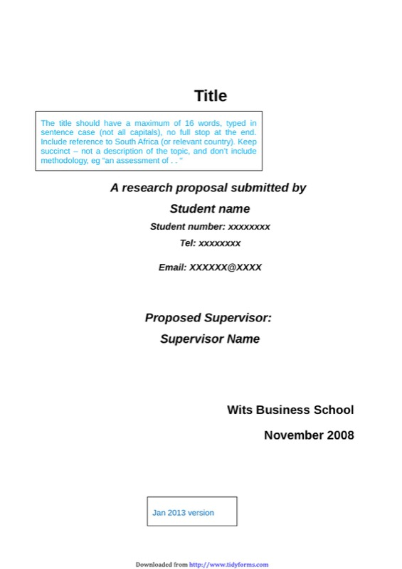 Research Proposal Template  Proposal Sample Template