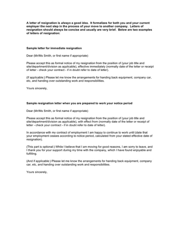 Resignation Letter Template - Free Templates in DOC, PPT, PDF & XLS