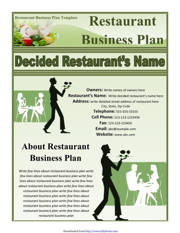 Restaurant Business Plan Template Free Templates In DOC PPT - Business plan template for a restaurant