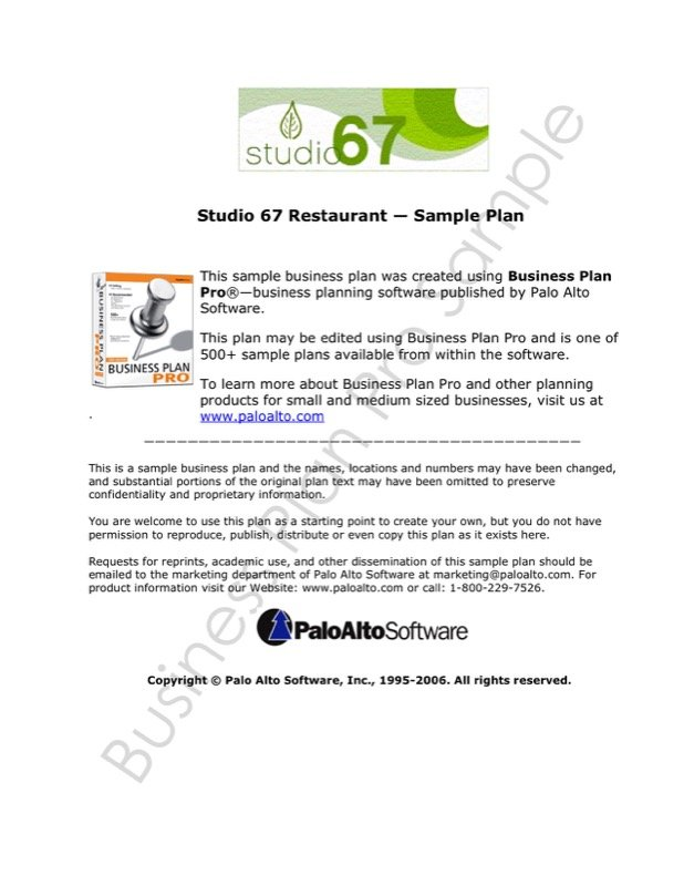 Restaurant Business Plan Template Free Templates In DOC PPT - Business planning templates free