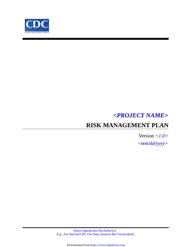 Risk Management Plan Template  Free Templates In Doc Ppt Pdf  Xls