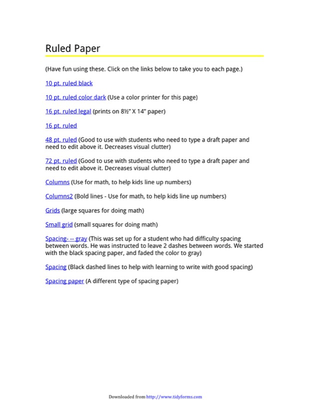 College Ruled Paper Templates  Free Templates In Doc Ppt Pdf  Xls
