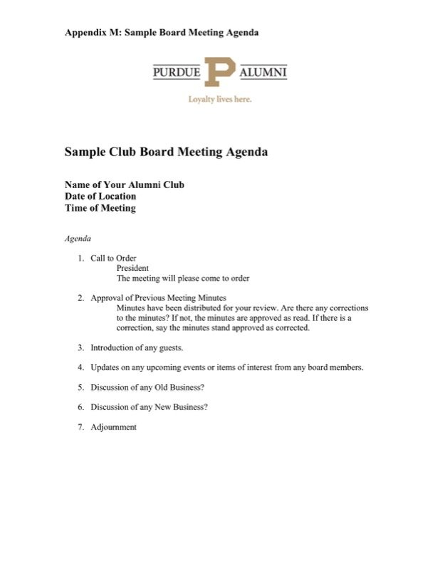 Download Booster Club Meeting Agenda Template For Free  Tidyform