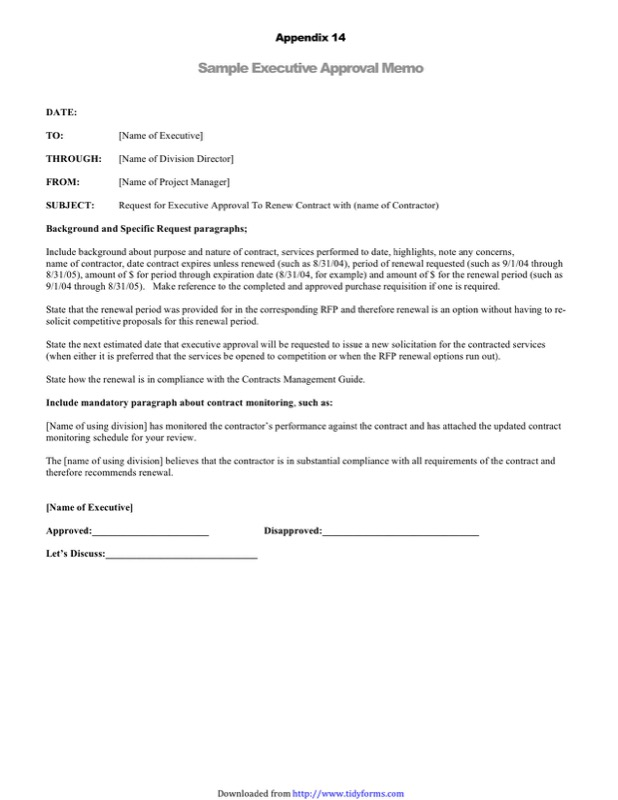 Executive Memo Template  Free Templates In Doc Ppt Pdf  Xls