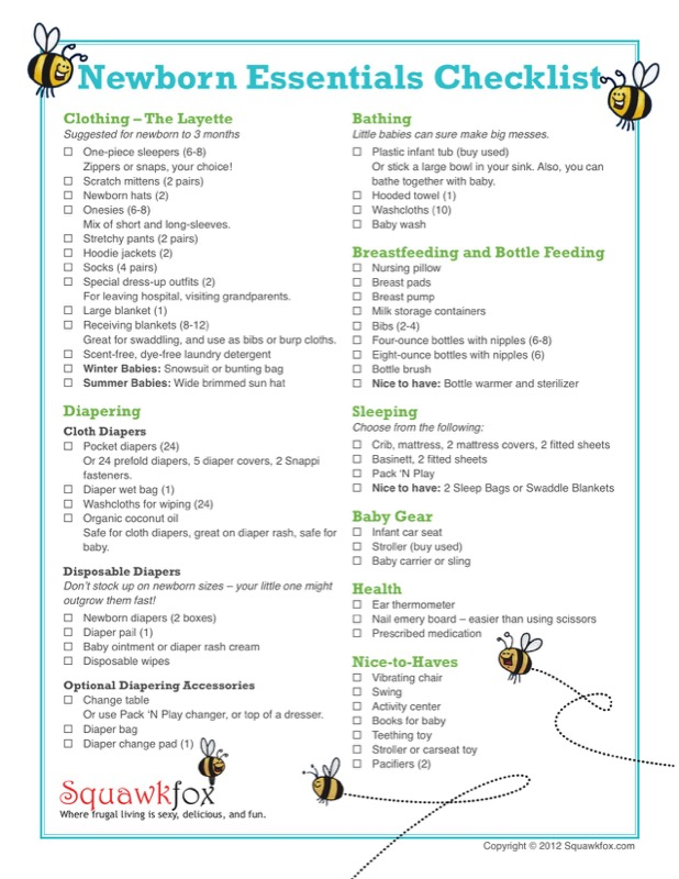 Sample First Baby Registry Checklists Templates  Free Templates In