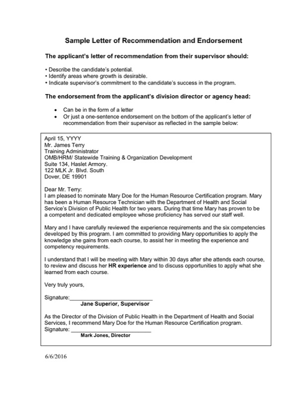 Endorsement Letter Template  Free Templates In Doc Ppt Pdf  Xls