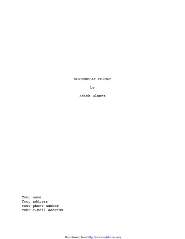 Screenplay Template  Free Templates In Doc Ppt Pdf  Xls