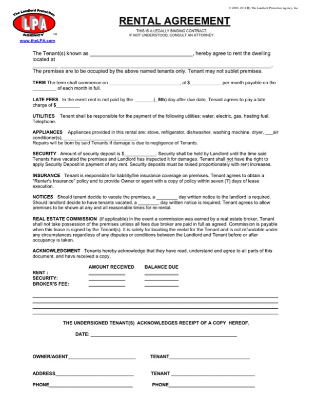 Download Sample Residential Tenancy Agreement For Free  Tidyform