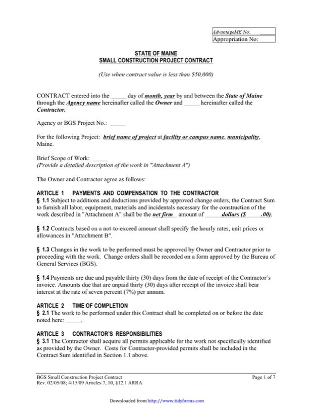 Simple Contract Template  Free Templates In Doc Ppt Pdf  Xls