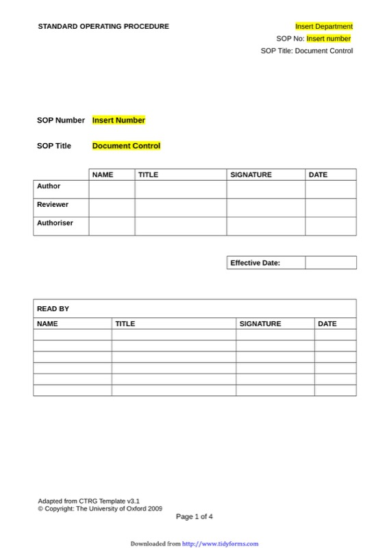 Sop Template  Free Templates In Doc Ppt Pdf  Xls