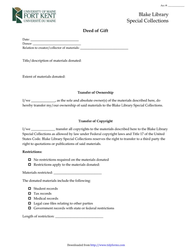Deed Of Gift Form Templates  Free Templates In Doc Ppt Pdf  Xls