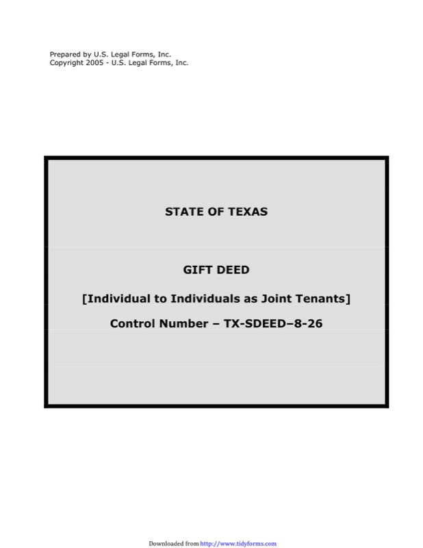 State of Texas Gift Deed