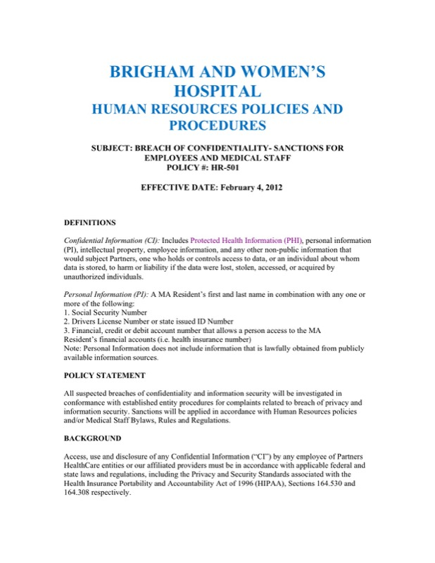 Human Resources Confidentiality Agreement Templates  Free Templates