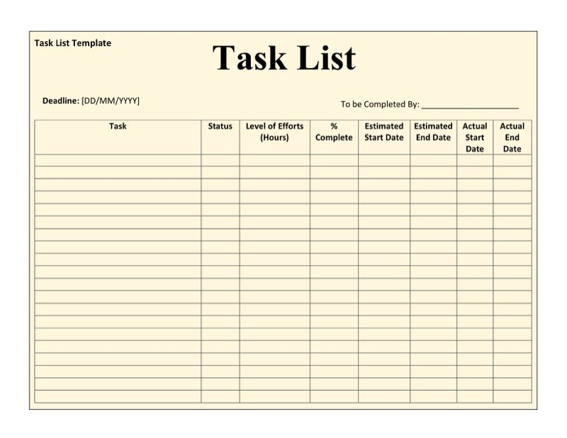 daily worksheet template