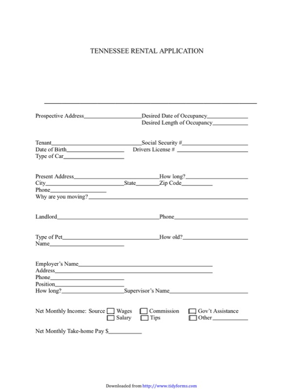 Tennessee Rent And Lease Template  Free Templates In Doc Ppt Pdf