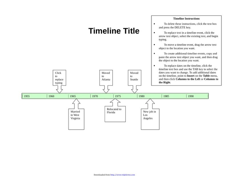 Timeline Template  Free Templates In Doc Ppt Pdf  Xls
