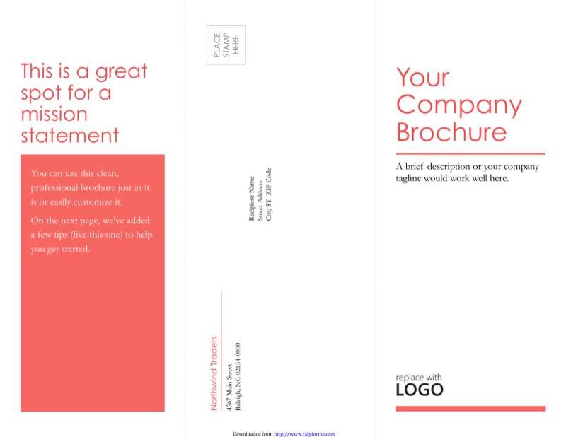 TriFold Brochure Template  Free Templates In Doc Ppt Pdf  Xls