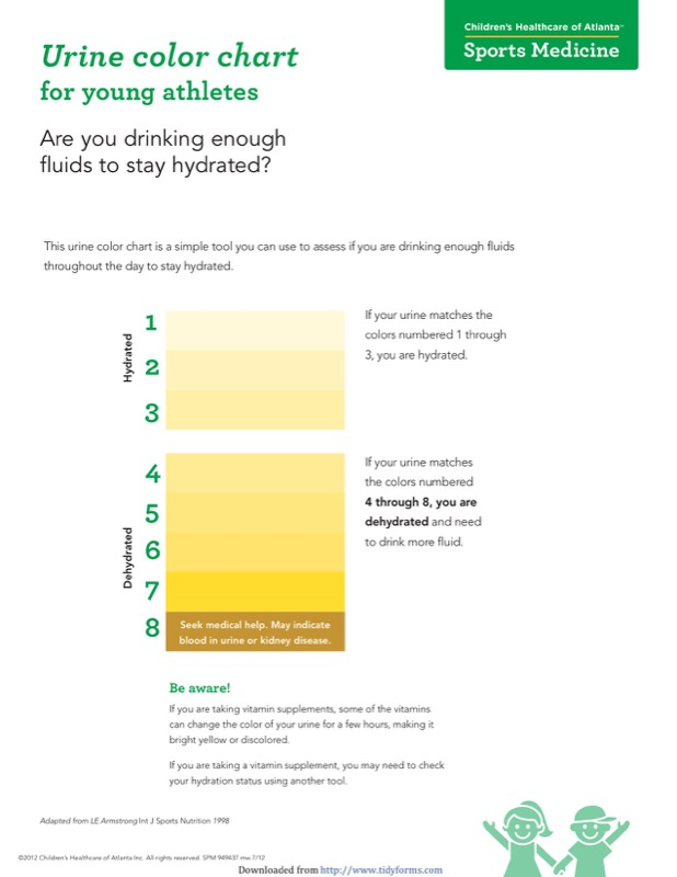 Urine Color Chart Templates  Free Templates In Doc Ppt Pdf  Xls