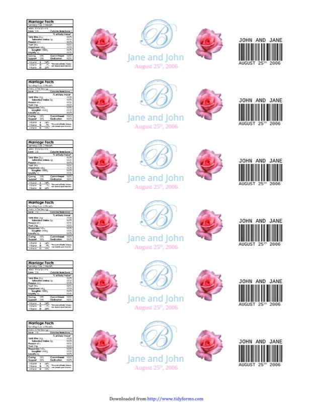 Water Bottle Label Template  Free Templates In Doc Ppt Pdf  Xls