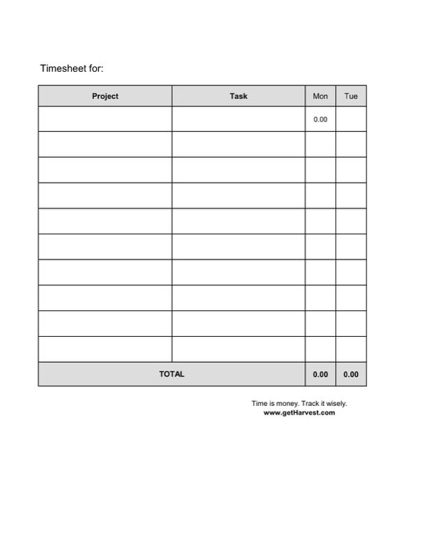 Weekly Timesheet Template  Free Templates In Doc Ppt Pdf  Xls