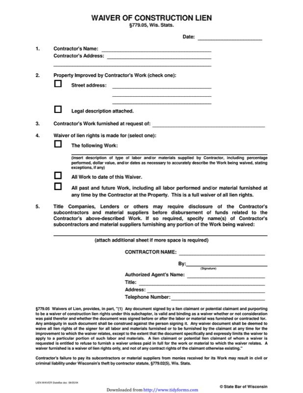 Awesome Construction Release Form Contemporary  Best Resume