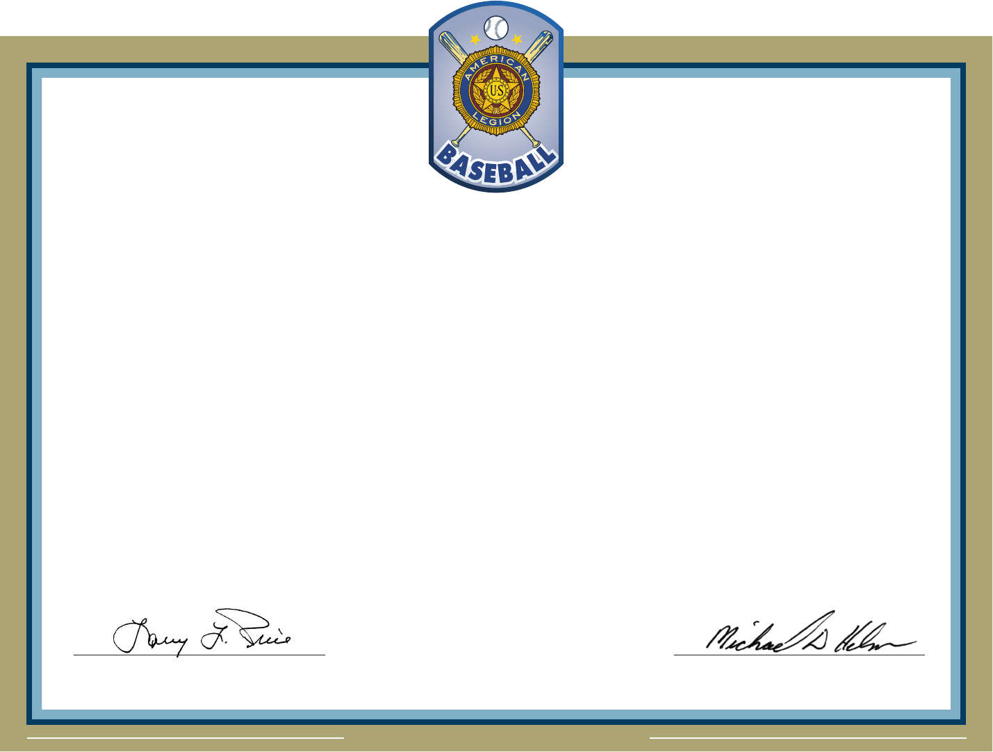 Baseball Certificate Of Appreciation Template