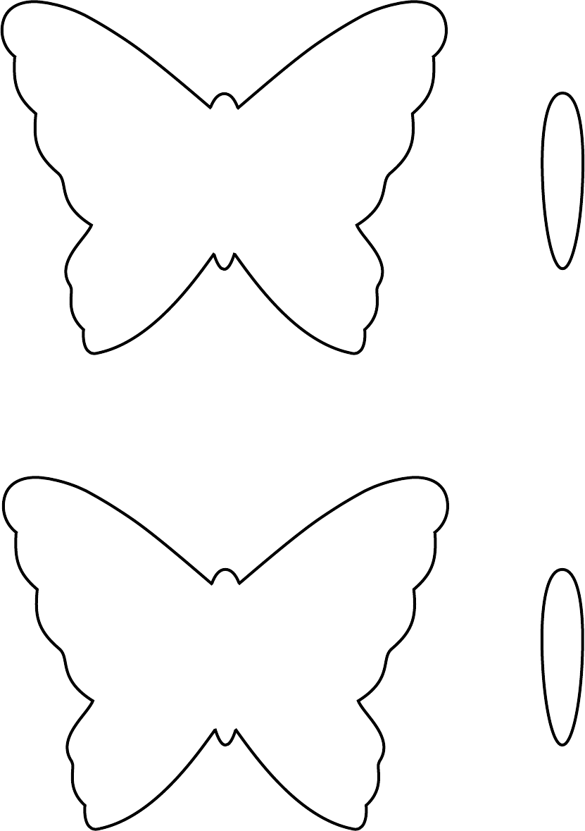 The Butterfly Template 1 can help you make a professional and – Butterfly Template