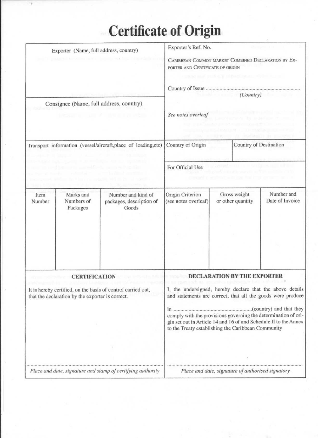 Generic certificate of origin template social work resume sample download caricom certificate of origin template for free tidyform bg1 caricom certificate of origin templatehtml 1betcityfo Gallery