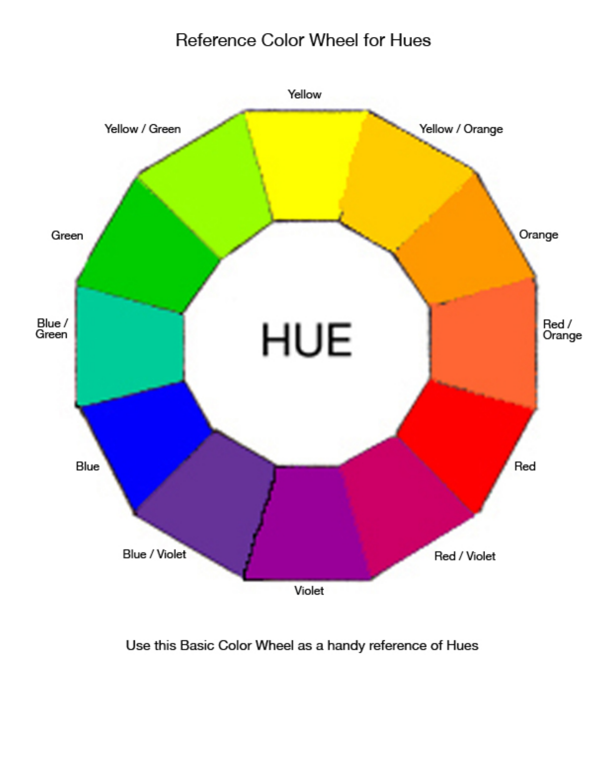 Download color wheel reference chart for free tidyform color wheel reference chart geenschuldenfo Choice Image