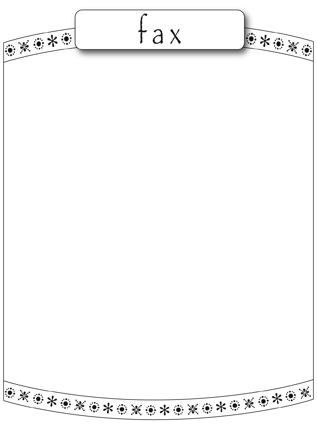 the cute fax cover sheet can help you make a professional and cute fax cover sheet 3
