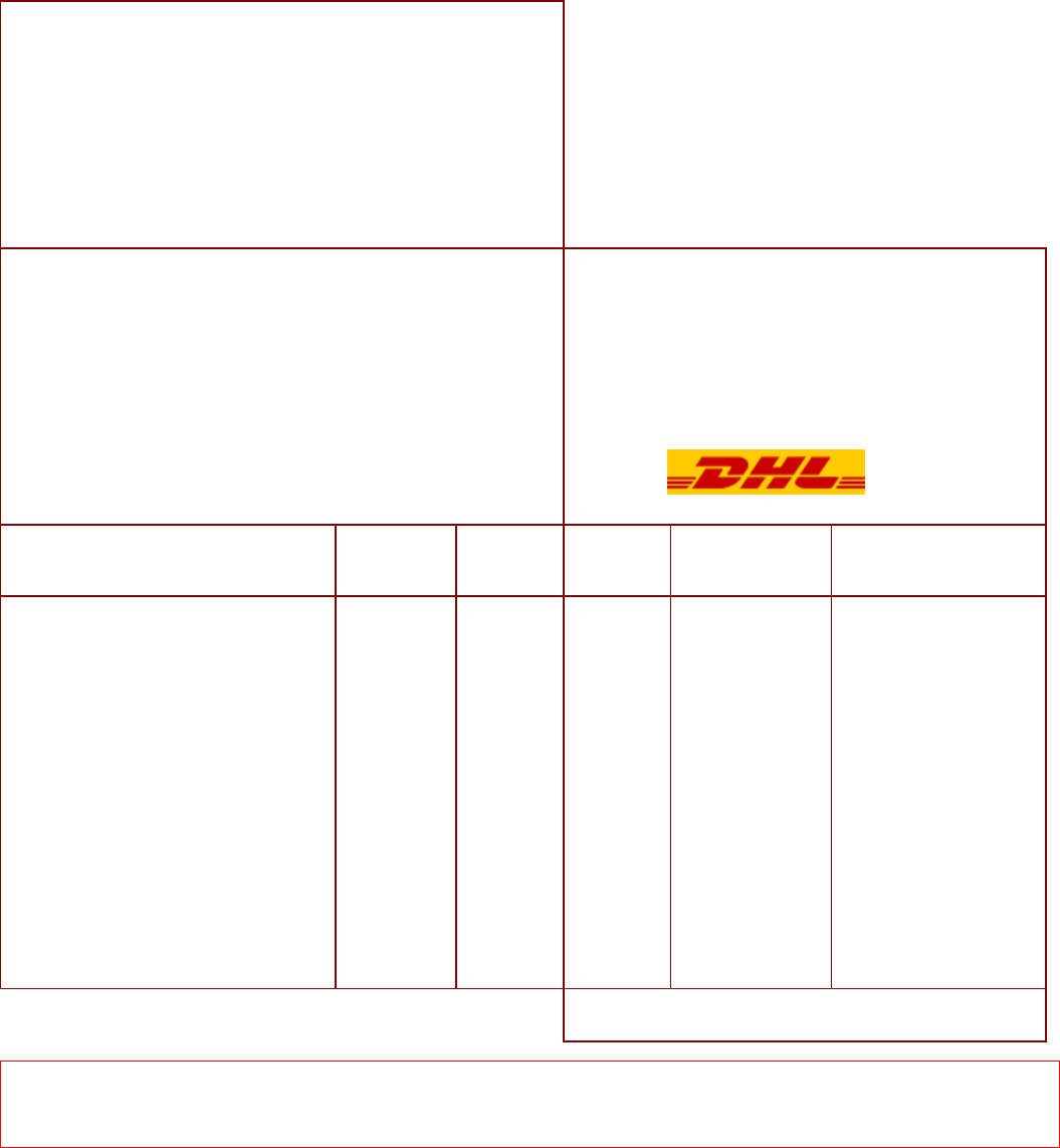the dhl proforma invoice can help you make a professional and dhl proforma invoice