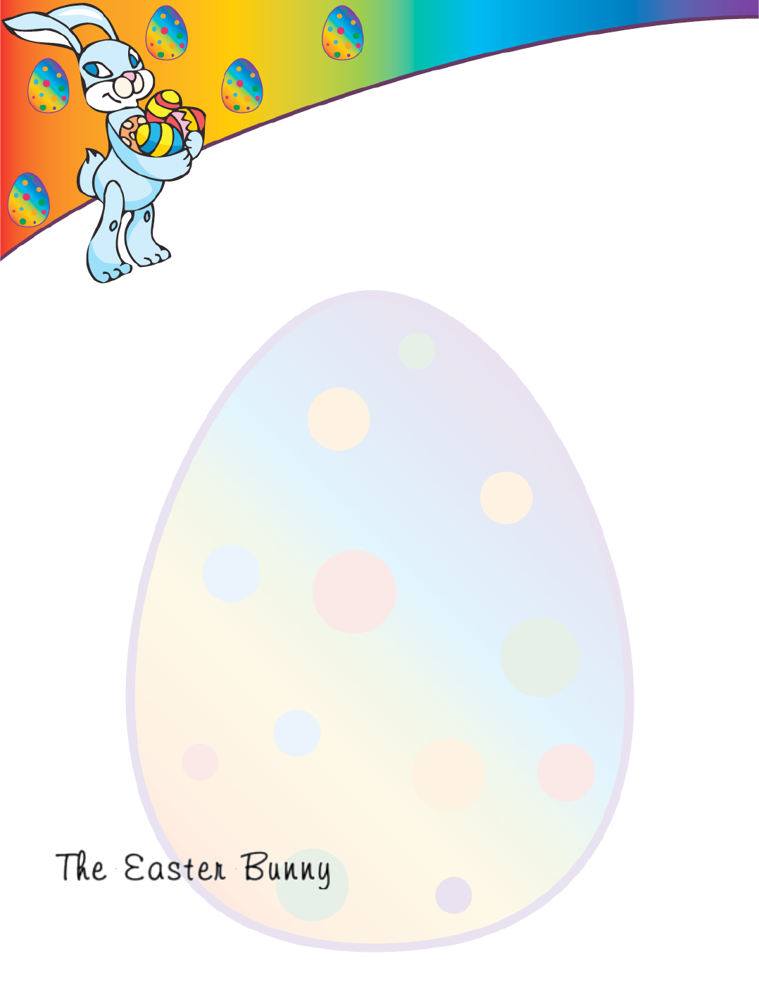 The Easter Morning Letter from the Easter Bunny can help you make – Easter Bunny Letter