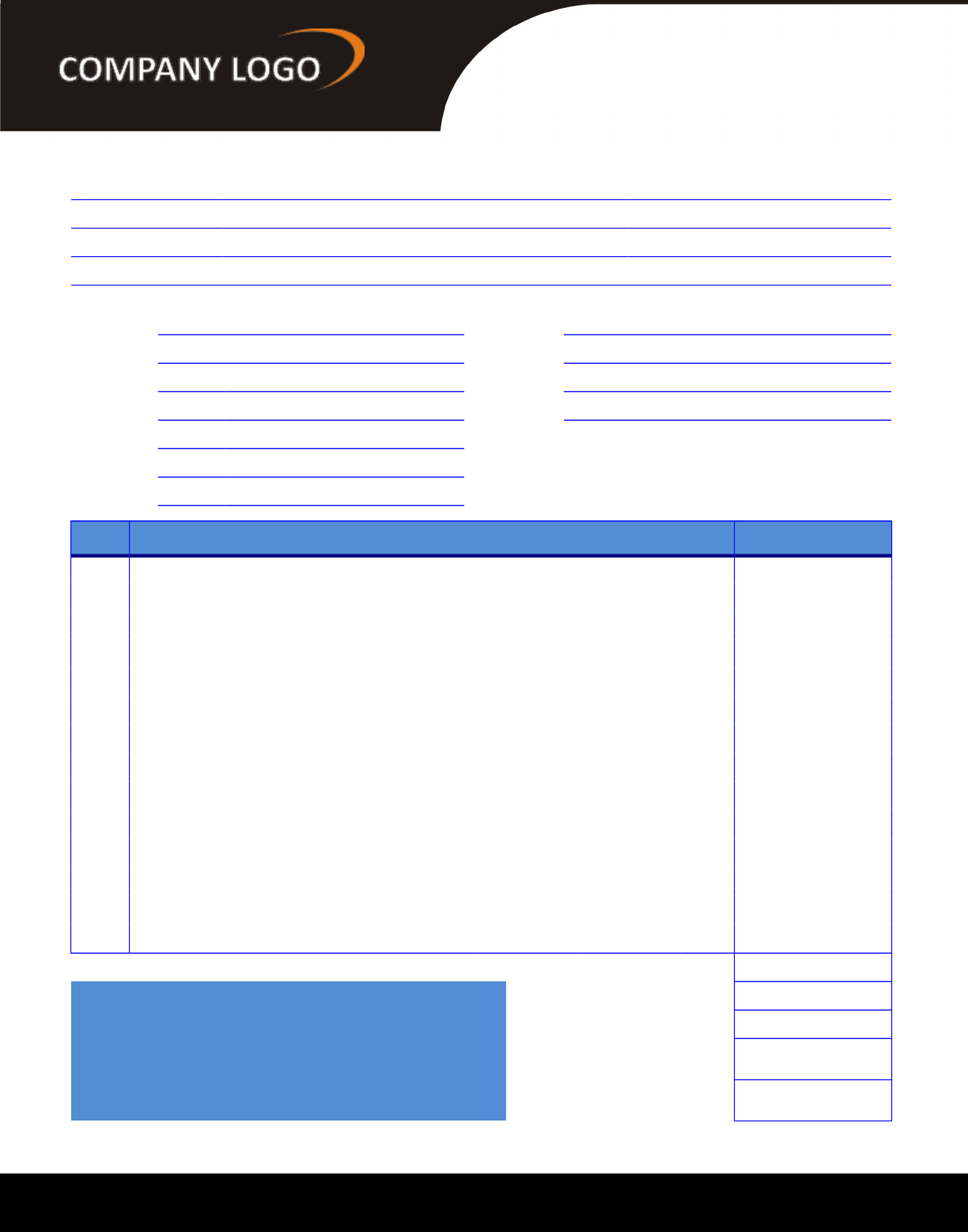 Graphic Design Invoice Template