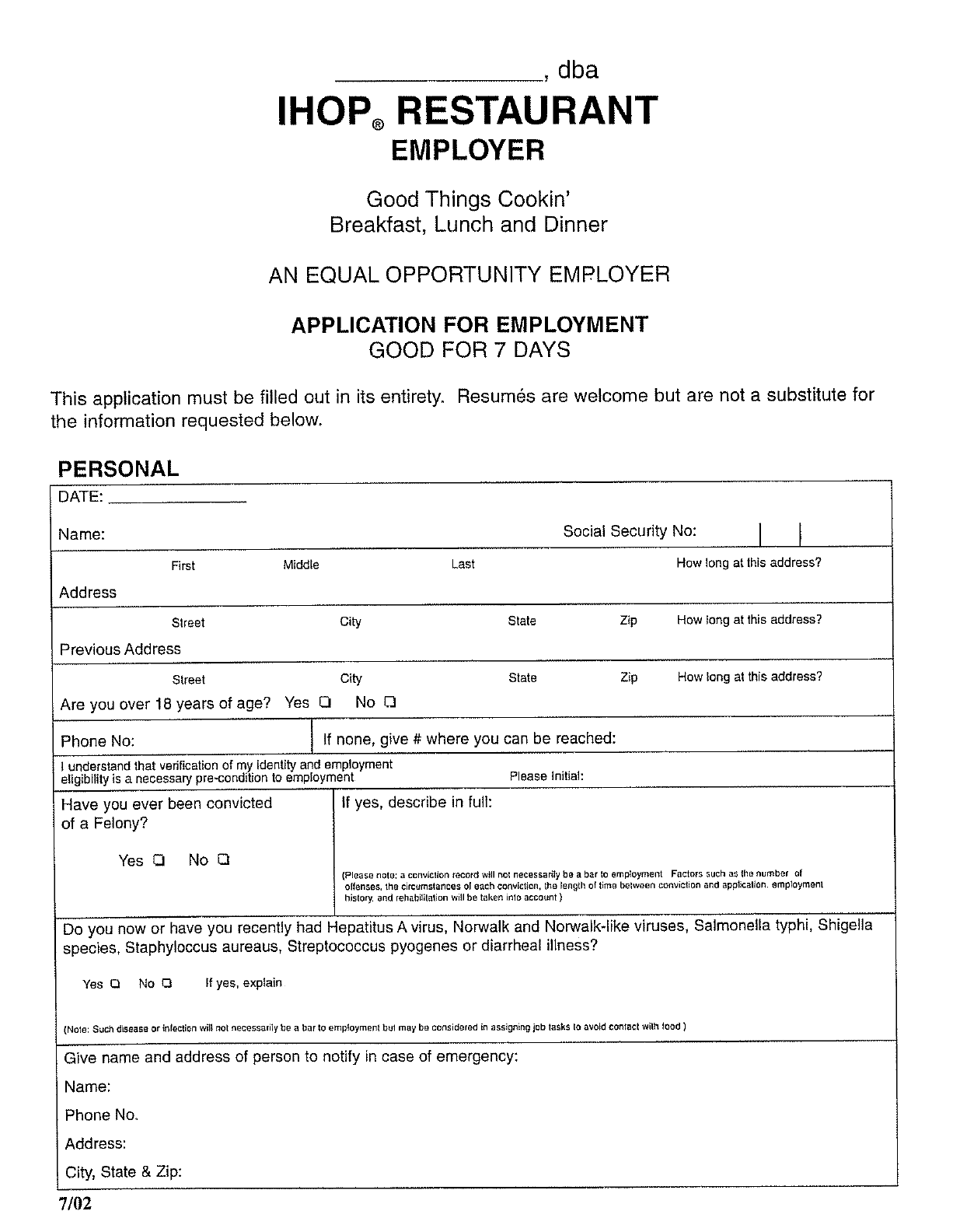 the ihop restaurant employer application for employment can help ihop restaurant employer application for employment