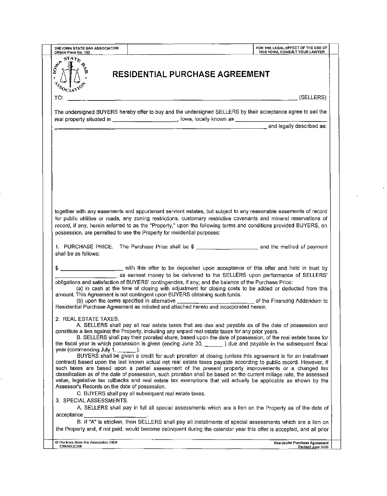 Download Iowa Resdential Purchase Agreement Offer To Buy Real Bge Page  14html. Agreement To Purchase Real Estate Form Free Agreement To Purchase  Real Estate ...  Home Purchase Agreement Form Free