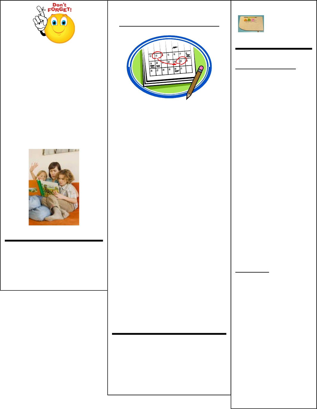 Kindergarten Newsletter Template 2