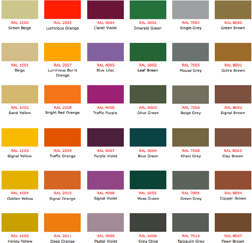 The RAL Colour Chart 3 can help you make a professional and – Ral Color Chart