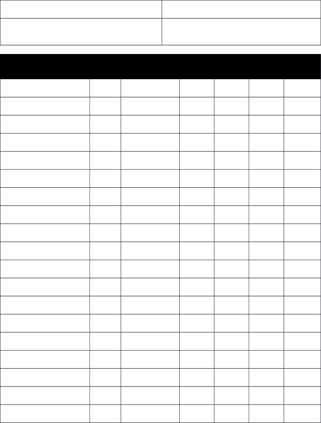 Student Sign In Sheet Template
